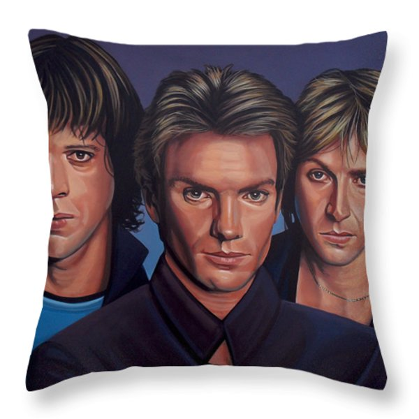 The Police Throw Pillow by Paul Meijering