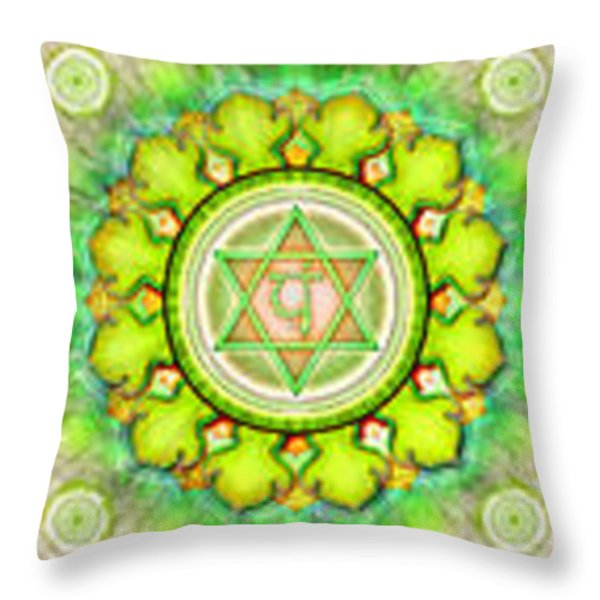 The Seven Chakras Series 2012 Throw Pillow by Dirk Czarnota