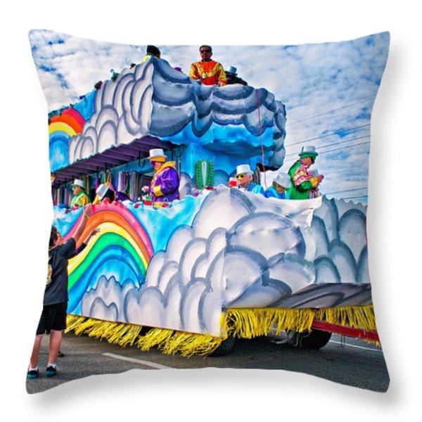 The Spirit Of Mardi Gras Throw Pillow by Steve Harrington