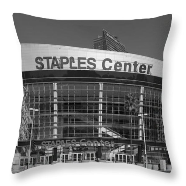 The Staples Center Throw Pillow by Mountain Dreams