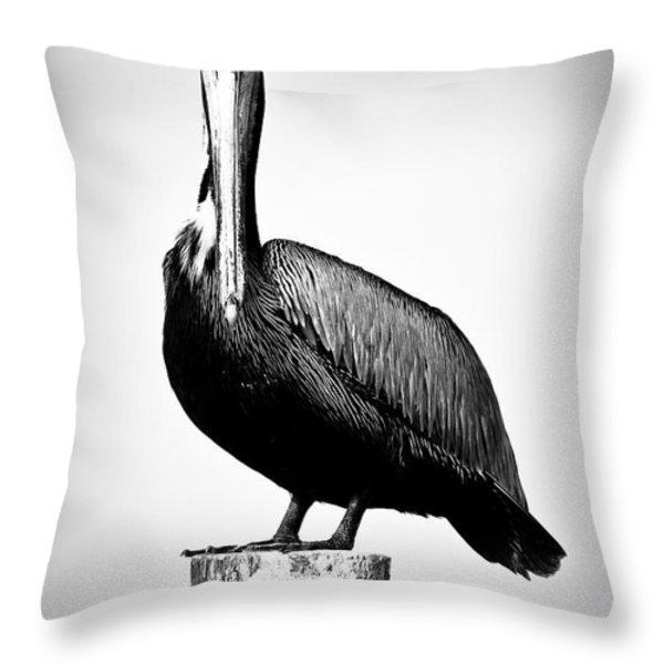 The Stare Down Throw Pillow by Matthew Blum