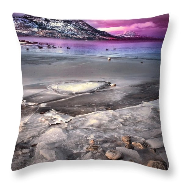 The Thaw Throw Pillow by Tara Turner