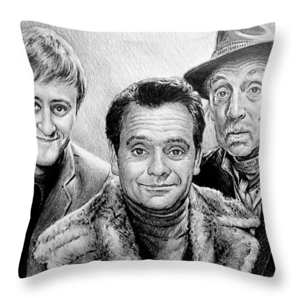 The Trotters Throw Pillow by Andrew Read