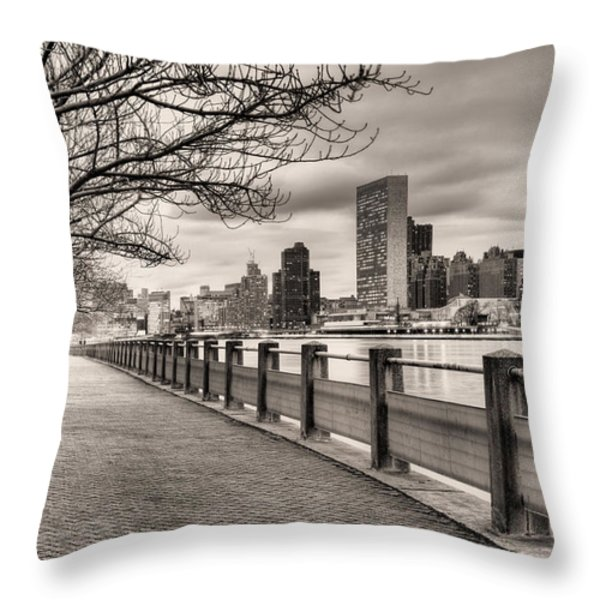 The Walk Throw Pillow by JC Findley