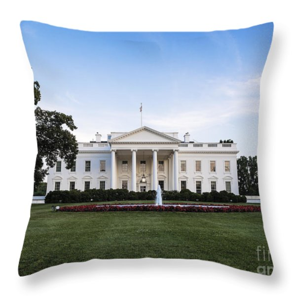 The White House Throw Pillow by John Greim