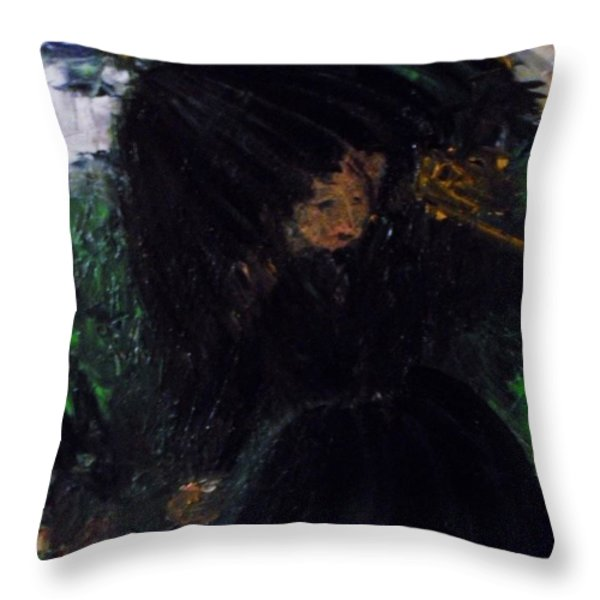 The Widow Throw Pillow by Laurie D Lundquist