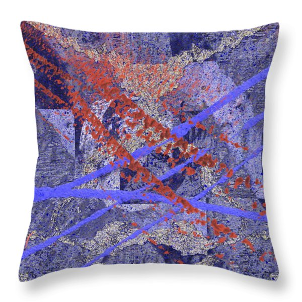 The Writing On The Wall 10 Throw Pillow by Tim Allen