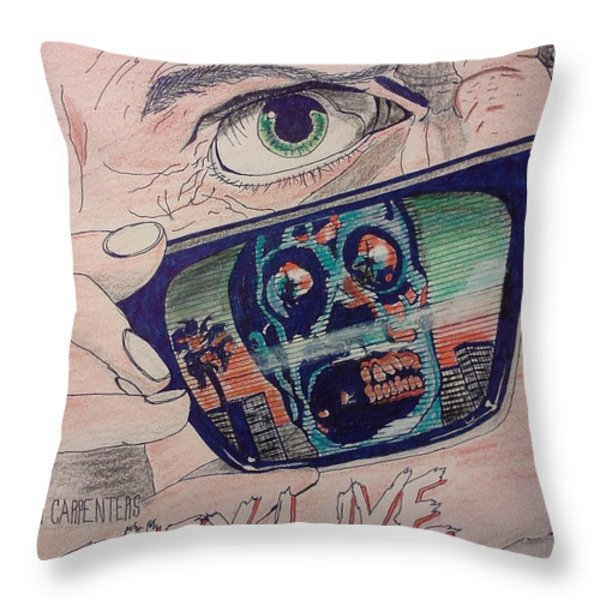 They live Throw Pillow by Christopher Soeters