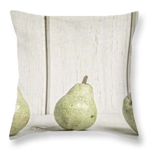 Three Pear Throw Pillow by Edward Fielding