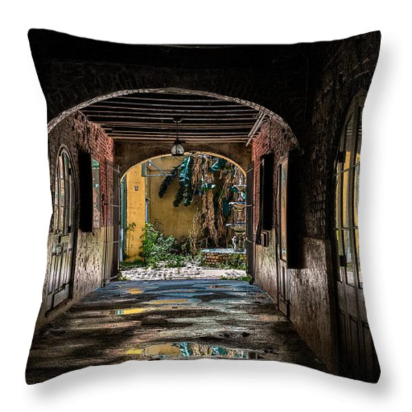 To The Courtyard Throw Pillow by Christopher Holmes