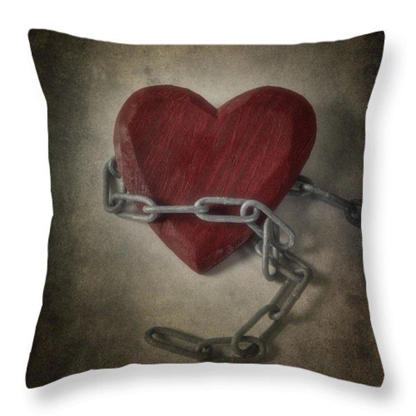 Unchain My Heart Throw Pillow by Joana Kruse