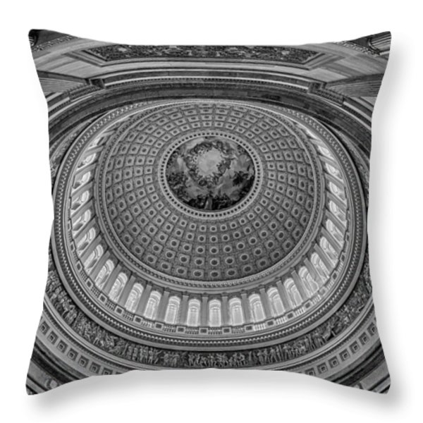 Us Capitol Rotunda Throw Pillow by Susan Candelario