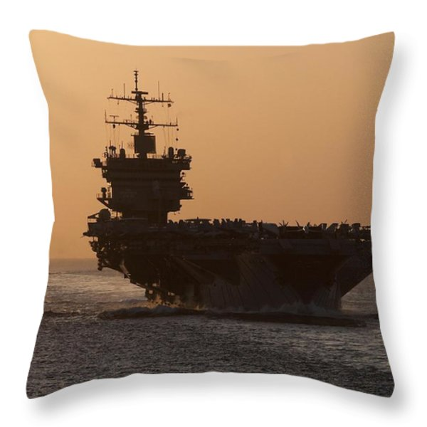 USS Enterprise Throw Pillow by Mountain Dreams