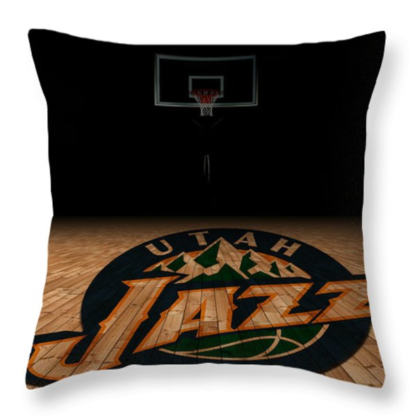 UTAH JAZZ Throw Pillow by Joe Hamilton