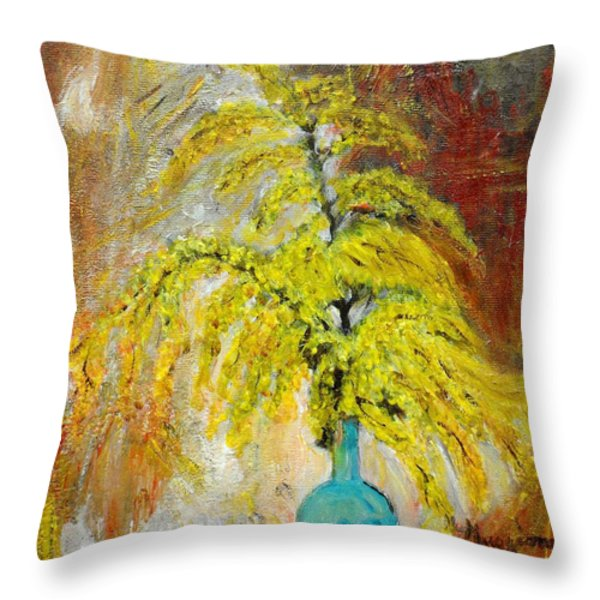 Vase Of Spring Throw Pillow by Mauro Beniamino Muggianu