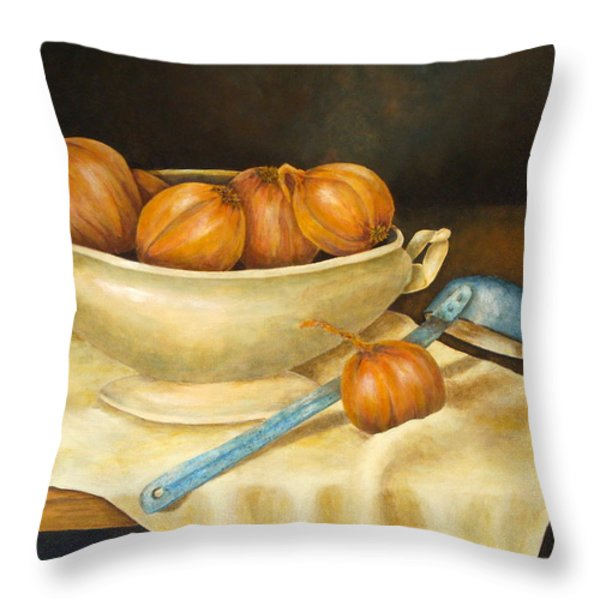 Venetian Table Throw Pillow by Pamela Allegretto