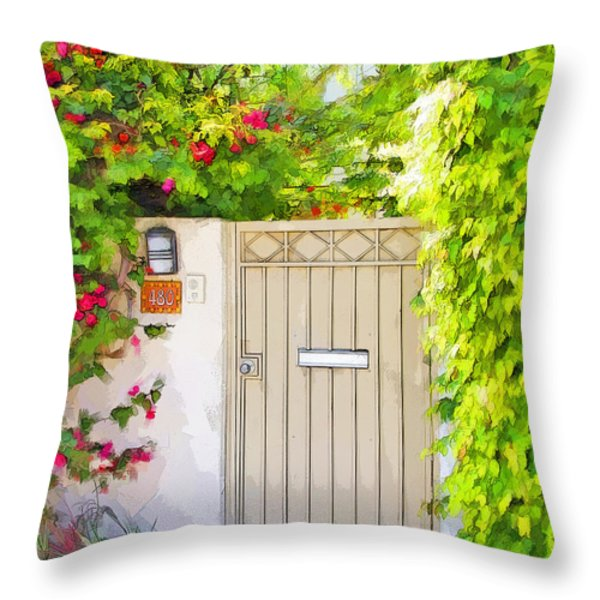 Venice Gate Throw Pillow by Chuck Staley
