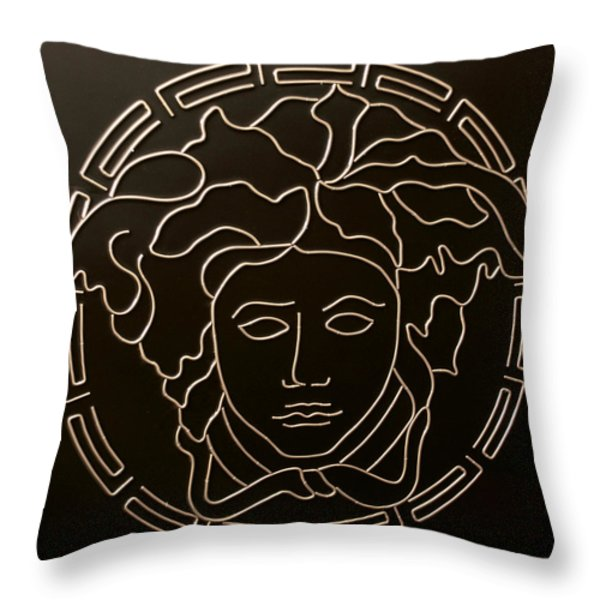 Versace Medusa Head Throw Pillow by Peter Virgancz