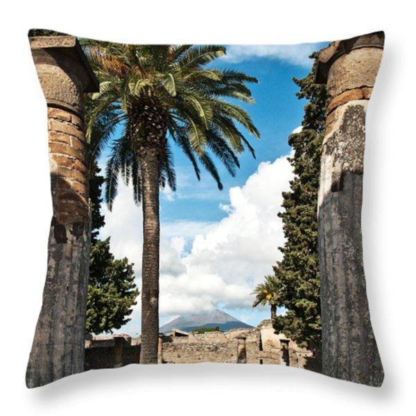 Vesuvius Throw Pillow by Marion Galt