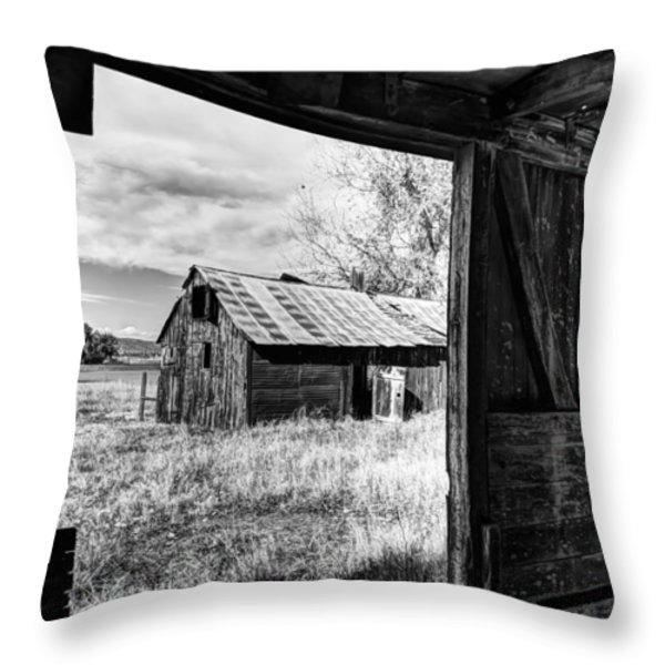View From the Barn Throw Pillow by Mountain Dreams