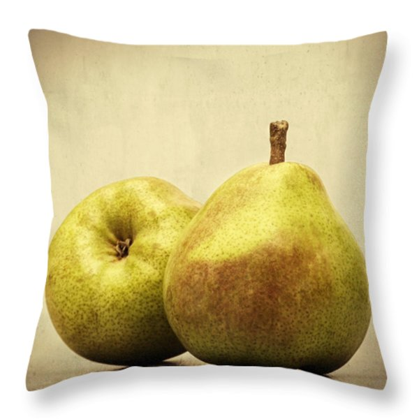 Pears Throw Pillow by Wim Lanclus