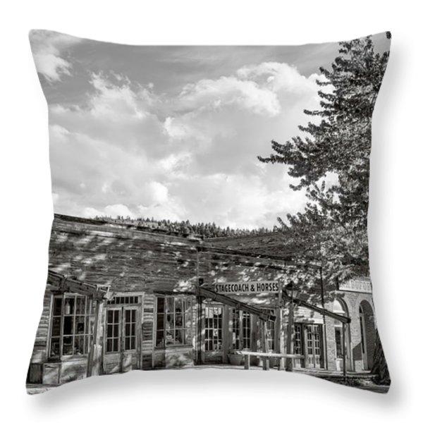 Virginia City Montana Ghost Town Throw Pillow by Daniel Hagerman