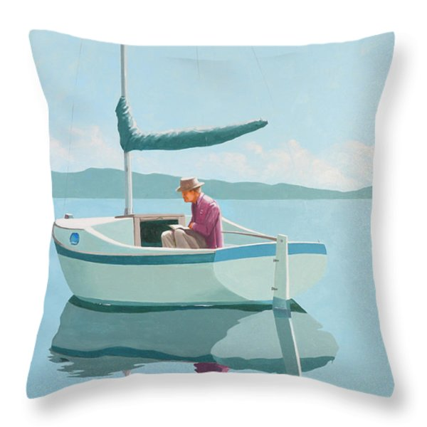 Waiting For The Wind Throw Pillow by Gary Giacomelli