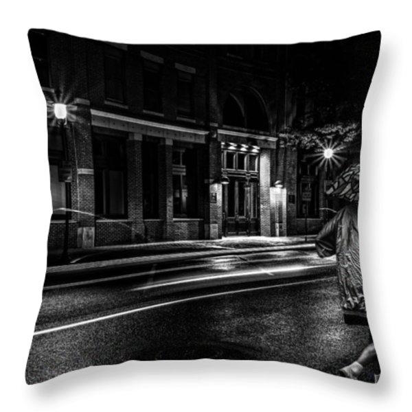 Walking In The Rain   Throw Pillow by Bob Orsillo