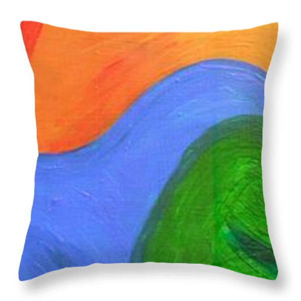 Wavelength Throw Pillow by Genevieve Esson