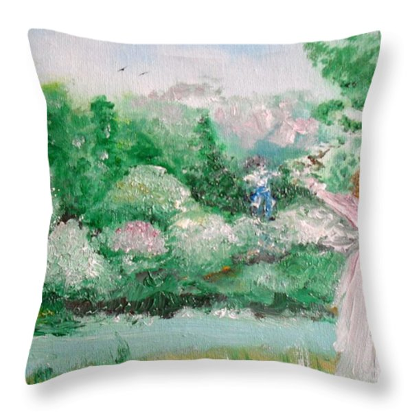 Welcome Home Love Throw Pillow by Laurie D Lundquist