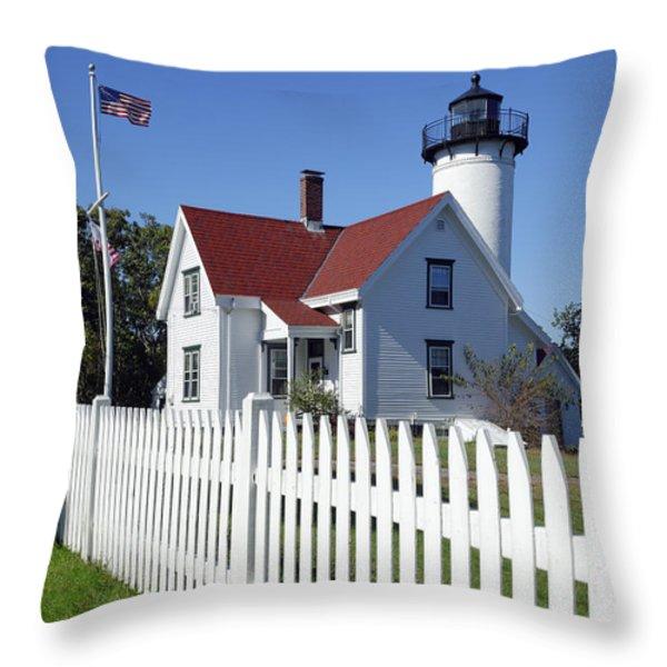 West Chop Lighthouse Throw Pillow by John Greim