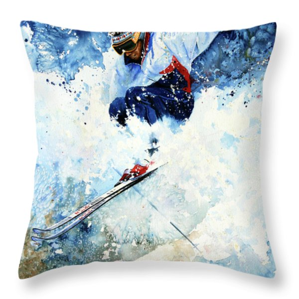 White Magic Throw Pillow by Hanne Lore Koehler