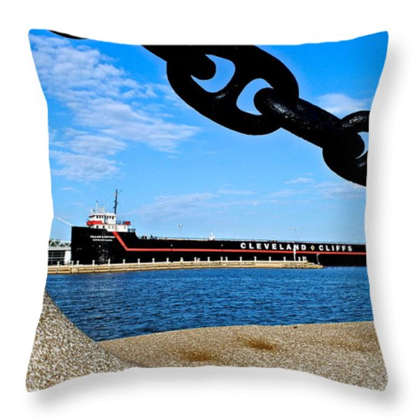William G Mather Throw Pillow by Frozen in Time Fine Art Photography