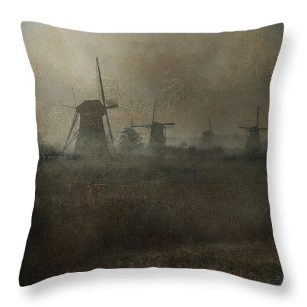 windmills Throw Pillow by Joana Kruse