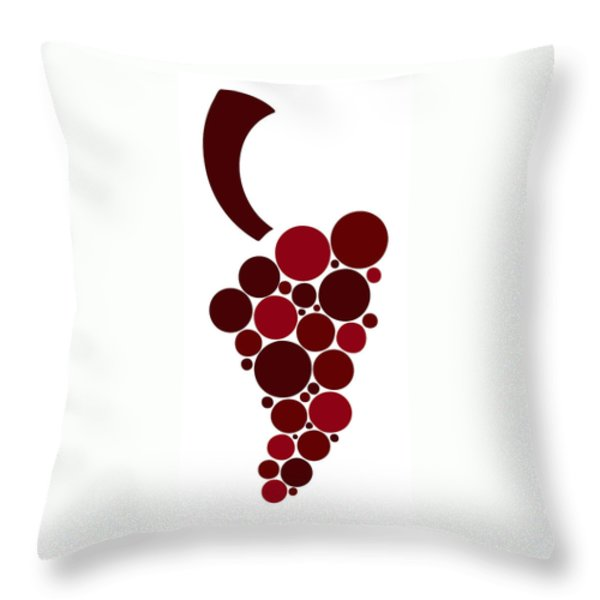 Wine Grape Throw Pillow by Frank Tschakert