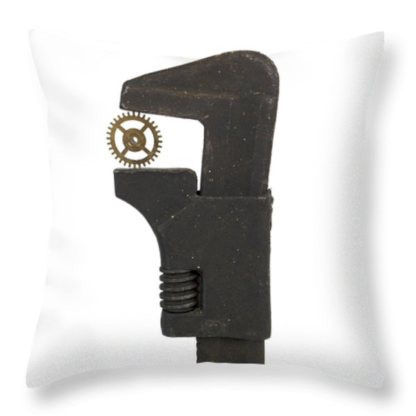 Wrench Throw Pillow by BERNARD JAUBERT