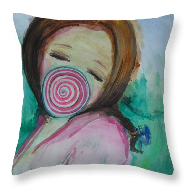 You're Beautiful Throw Pillow by Laurie D Lundquist