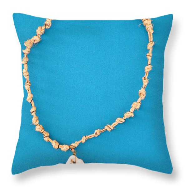 Aphrodite Antheia Necklace Throw Pillow by Augusta Stylianou