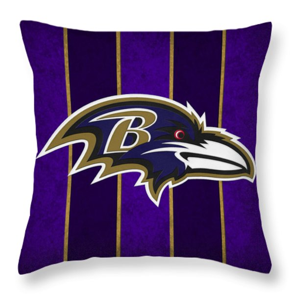 Baltimore Ravens Throw Pillow by Joe Hamilton