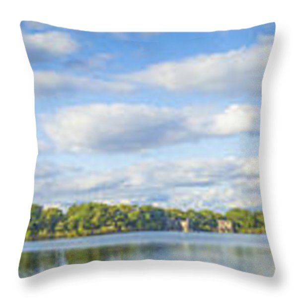 Central Park Throw Pillow by Theodore Jones