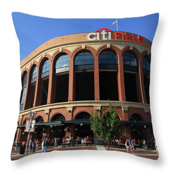 Citi Field - New York Mets Throw Pillow by Frank Romeo