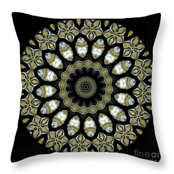 Kaleidoscope Ernst Haeckl Sea Life Series Throw Pillow by Amy Cicconi