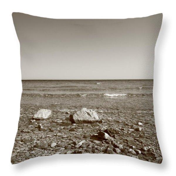 Lake Huron Throw Pillow by Frank Romeo