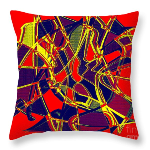1010 Abstract Thought Throw Pillow by Chowdary V Arikatla