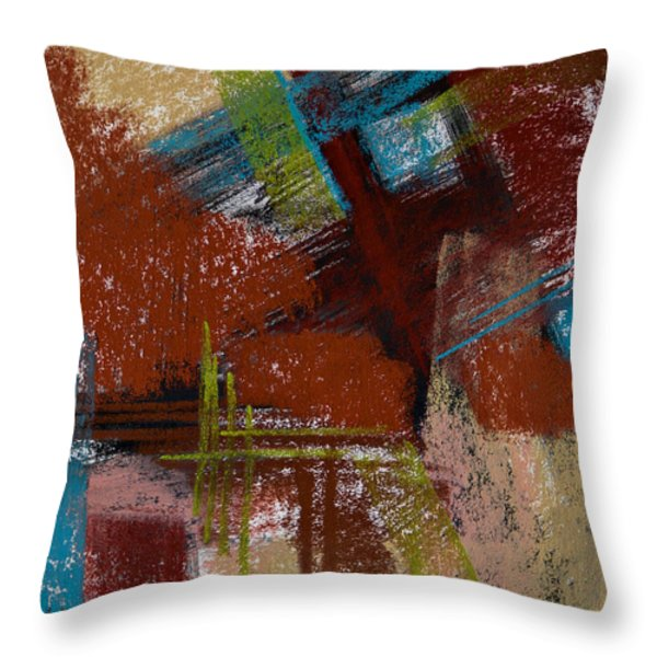 On The Diagonal Throw Pillow by Tracy L Teeter