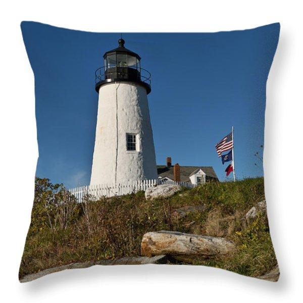 Pemaquid Point Lighthouse Throw Pillow by John Greim