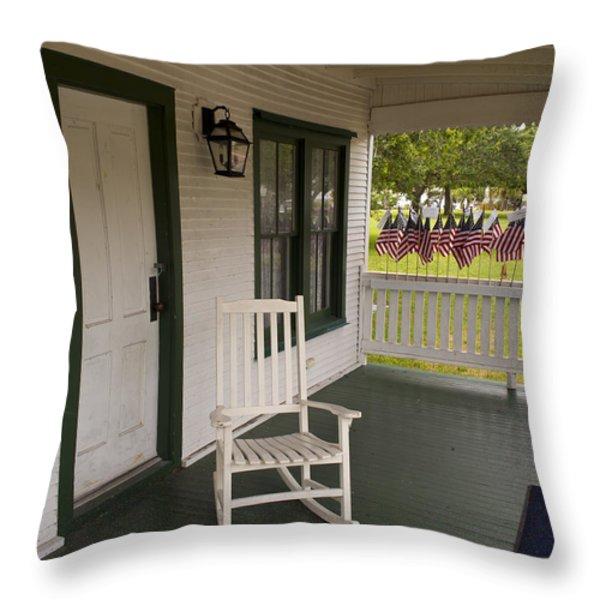 Ryckman House in Melbourne Beach Florida Throw Pillow by Allan  Hughes