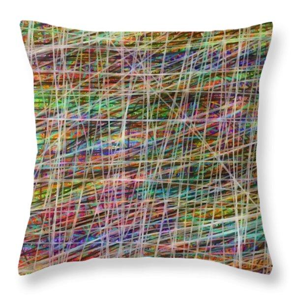 schreien Throw Pillow by Sir Josef  Putsche