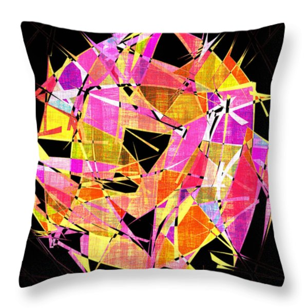 1102 Abstract Thought Throw Pillow by Chowdary V Arikatla