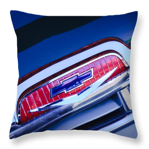 Chevrolet Grille Emblem Throw Pillow by Jill Reger